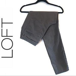LOFT Gray Corduroy Skinny Pants